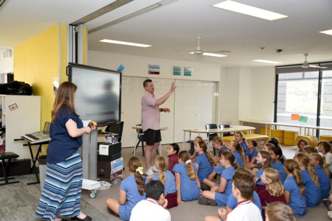 Teachers enjoy the ability to team-teaching in the open-plan facilities